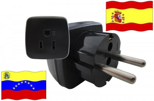 Urlaubsstecker Spanien für Geräte aus Venezuela