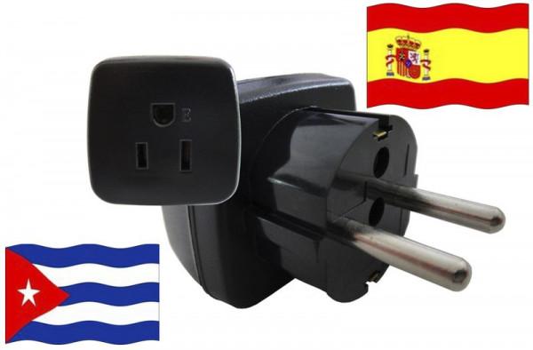 Urlaubsstecker Spanien für Geräte aus Kuba