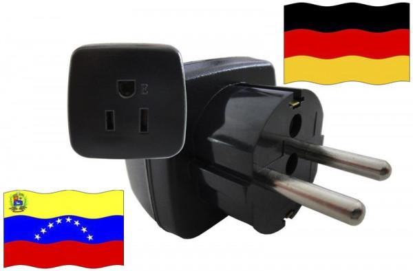 Urlaubsstecker Deutschland für Geräte aus Venezuela