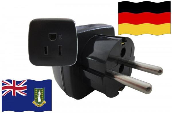 Urlaubsstecker Deutschland für Geräte aus Britische Jungferninseln