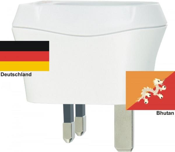 Reiseadapter Bhutan auf Deutschland Skross 1.500230 Reisestecker
