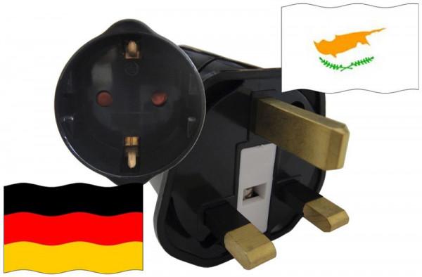 Urlaubsstecker Zypern für Geräte aus Deutschland