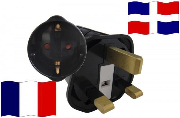 Urlaubsstecker DomRep. für Geräte aus Frankreich