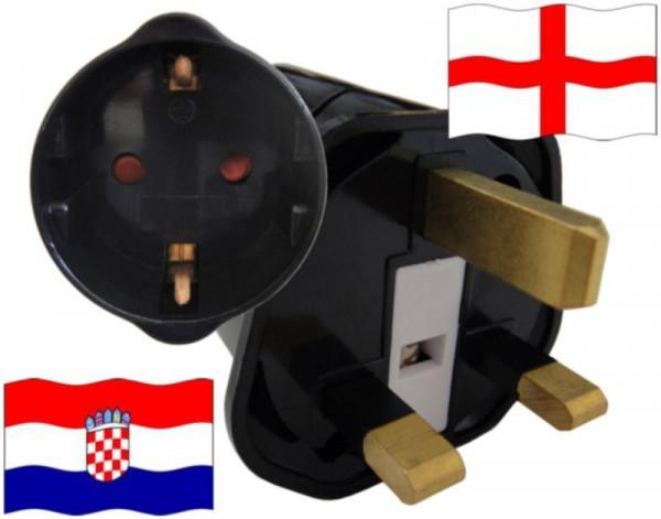 Reiseadapter England für Geräte aus Kroatien