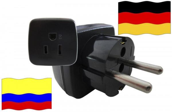 Urlaubsstecker Deutschland für Geräte aus Kolumbien