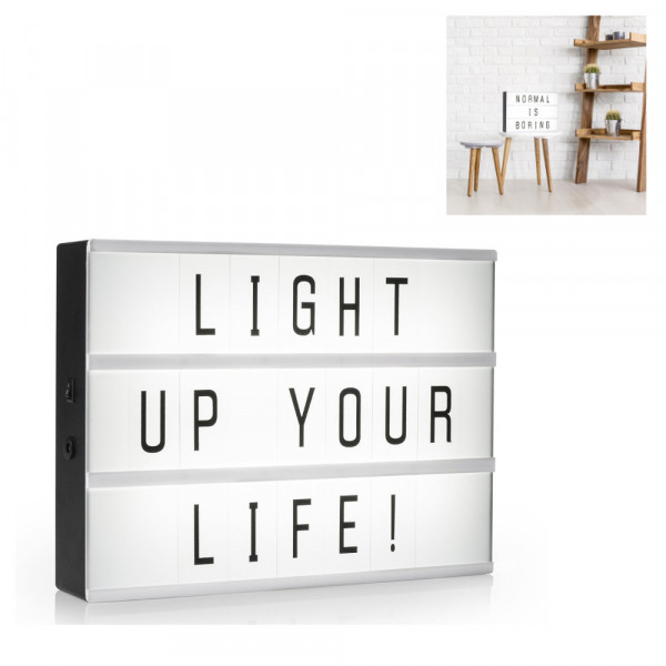 Lichtbox zum Selbstgestalten mit 85 Zeichen Light Box Amartwares 10.043.66