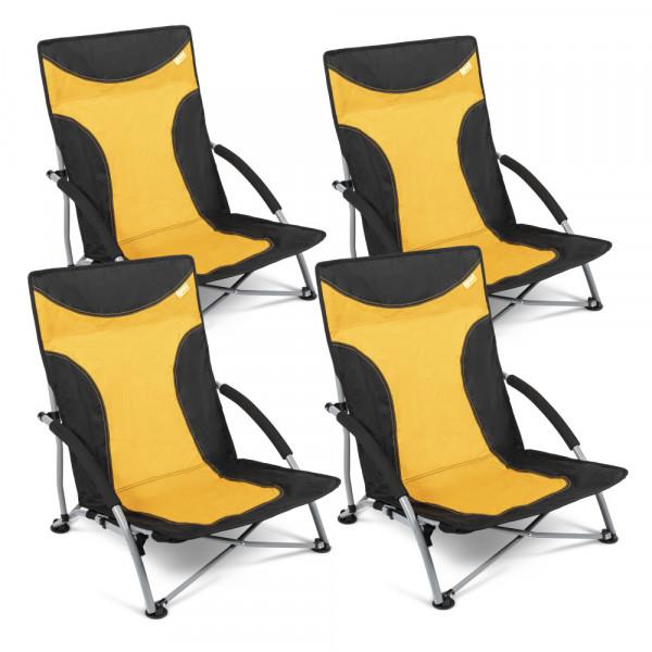 4er Set Strandstuhl mit breiten Standfüßen, Kampa Sandy FT0047 gelb-orange