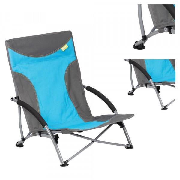 Strandstuhl mit breiten Standfüßen, Campingstuhl Kampa Sandy FT0045 blau