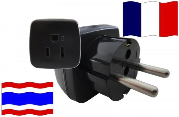 Urlaubsstecker Frankreich für Geräte aus Thailand