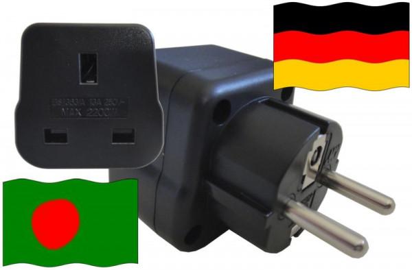 Urlaubsstecker Deutschland für Geräte aus Bangladesch