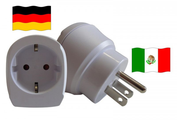 Reiseadapter für Mexiko. Steckeradapter für Geräte aus Deutschland