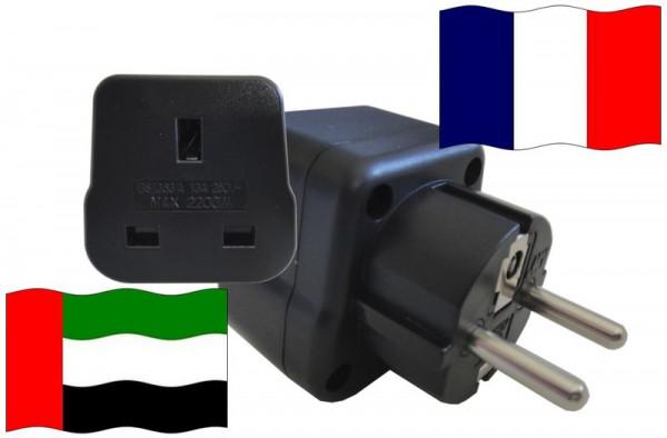 Urlaubsstecker Frankreich für Geräte aus Vereinigte Arabische Emirate