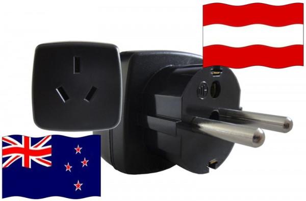 Reiseadapter Österreich - Kompatibel mit Geräten aus Neuseeland