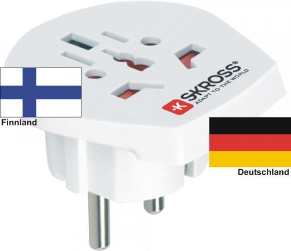 Reiseadapter Deutschland auf Finnland - Skross 1.500211 Reisestecker