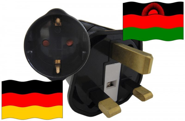 Urlaubsstecker Malawi für Geräte aus Deutschland