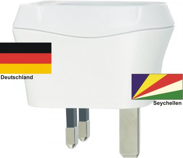Reiseadapter Seychellen auf Deutschland Skross 1.500230 Reisestecker