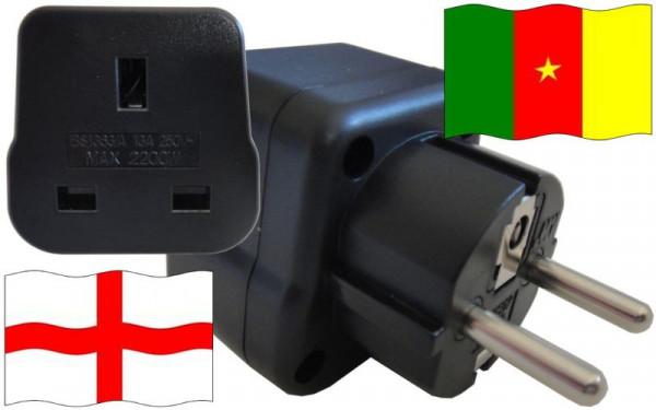 Reiseadapter Kamerun für Geräte aus England