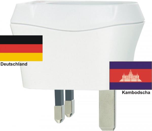 Reiseadapter Kambodscha auf Deutschland Skross 1.500230 Reisestecker