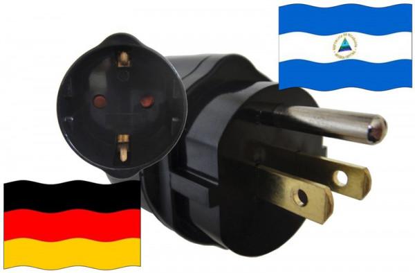 Urlaubsadapter Nicaragua für Geräte aus Deutschland