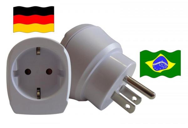 Reiseadapter für Brasilien. Steckeradapter für Geräte aus Deutschland