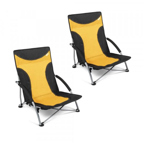 2er Set Strandstuhl mit breiten Standfüßen, Kampa Sandy FT0047 gelb/orange