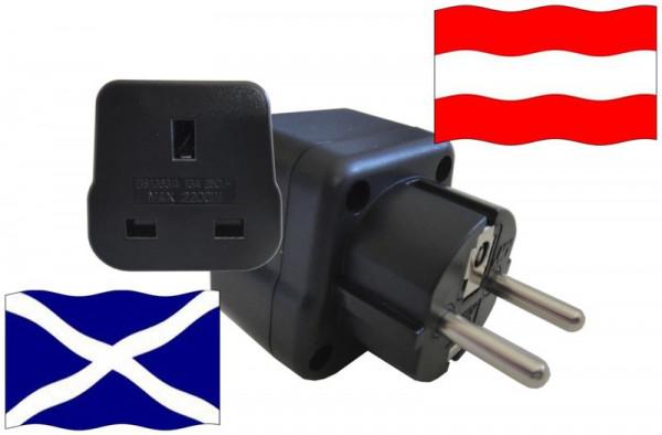 Urlaubsstecker Österreich für Geräte aus Schottland