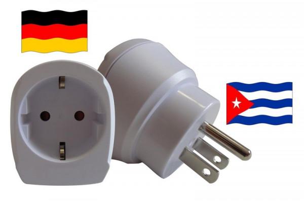 Reiseadapter für Kuba. Steckeradapter für Geräte aus Deutschland