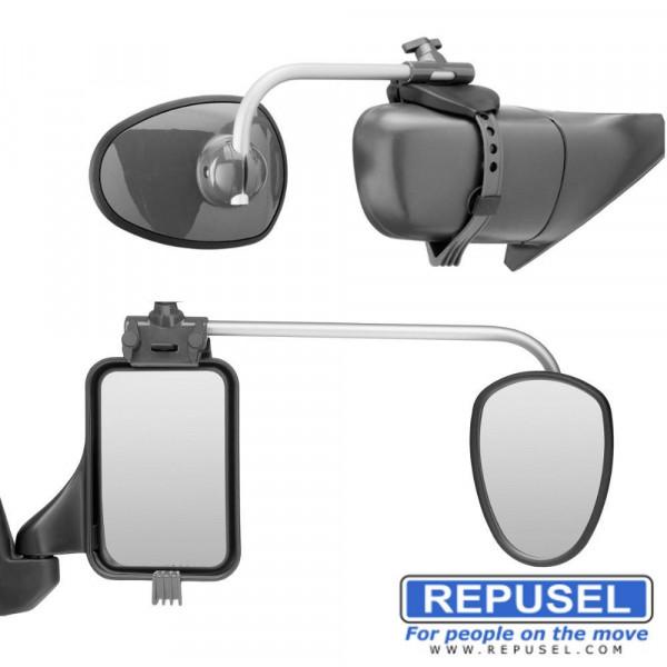 Caravanspiegel Alufor, Arm lang, zusätzlicher Autospiegel Repusel 3003