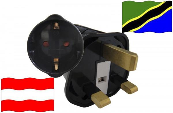 Urlaubsstecker Tansania für Geräte aus Österreich