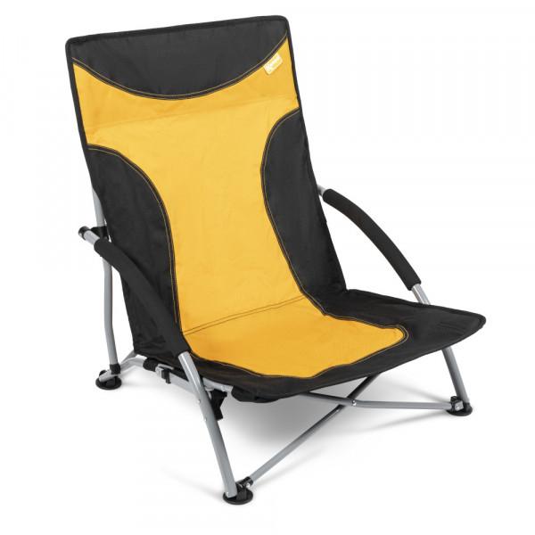 Strandstuhl mit breiten Standfüßen, Campingstuhl Kampa Sandy FT0047 gelb/orange