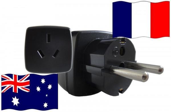 Urlaubs-Reisestecker mit Schutzkontakt für Frankreich 250 Volt Australien Reiseadapter