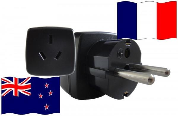 Urlaubs-Reisestecker mit Schutzkontakt für Frankreich 250 Volt Neuseeland Reiseadapter
