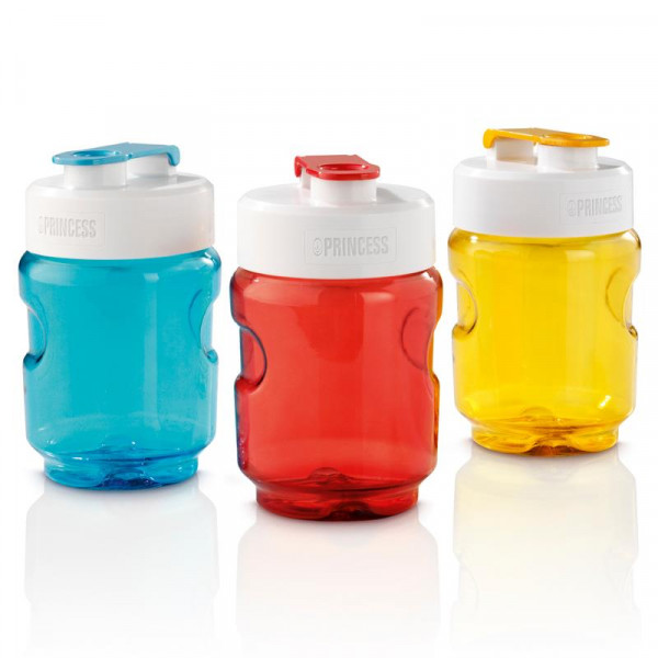 Ersatzflaschen-Set 300ml Ersatzbehälter in den Farben blau, rot, gelb