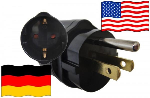 Urlaubsadapter USA für Geräte aus Deutschland