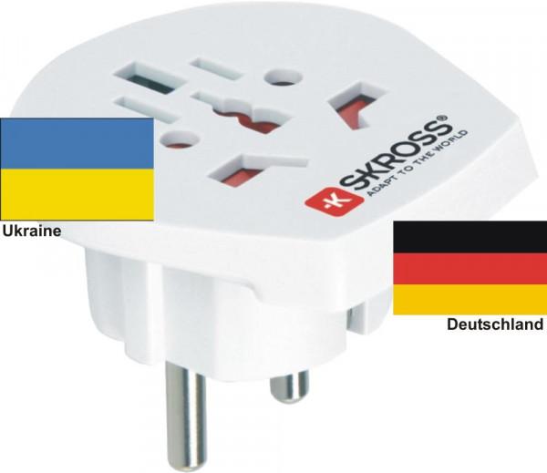 Reiseadapter Deutschland auf Ukraine - Skross 1.500211 Reisestecker