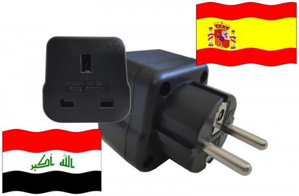Urlaubsstecker Spanien für Geräte aus Irak
