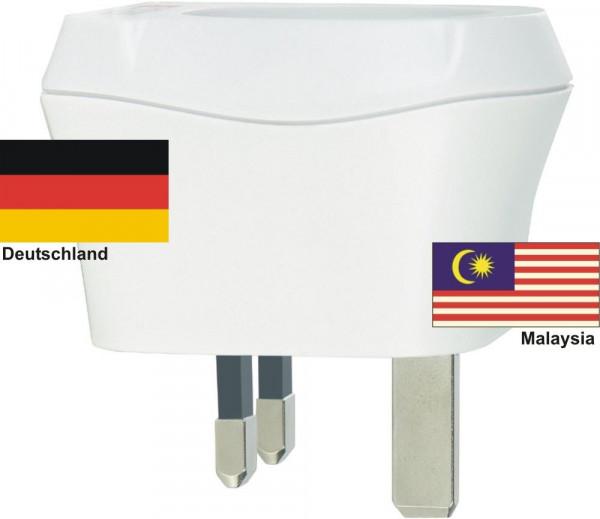 Reiseadapter Malaysia auf Deutschland Skross 1.500230 Reisestecker