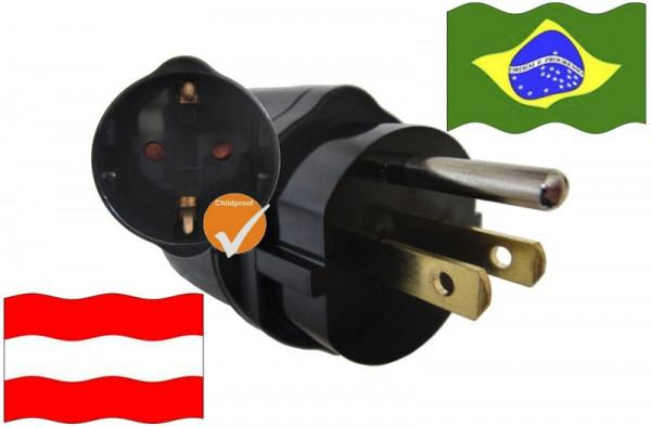 Urlaubsadapter Brasilien für Geräte aus Österreich