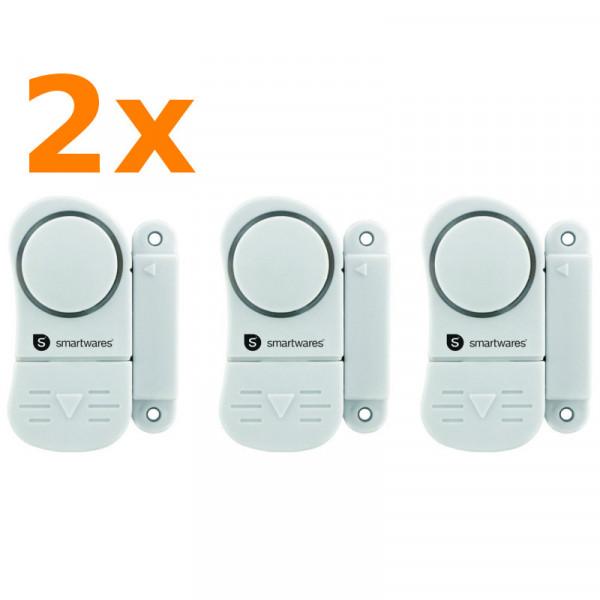 6 Stück Mini Alarmanlagen zur Absicherung Smartwares SC07/3 10.017.13 sichert Fenster und Türen