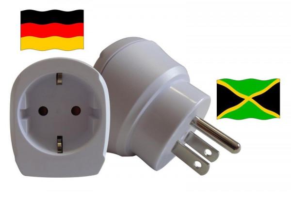Reiseadapter für Jamaika. Steckeradapter für Geräte aus Deutschland