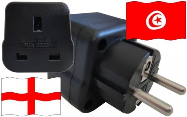 Reiseadapter Tunesien für Geräte aus England