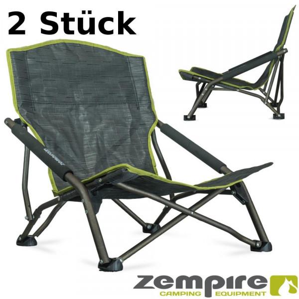 2er Set Design Strandstühle wasserfest – Leichtgewichtsstuhl mit breiten Standfüßen – vollständig zu