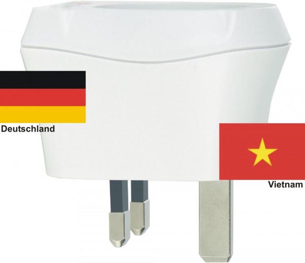 Reiseadapter Vietnam auf Deutschland Skross 1.500230 Reisestecker