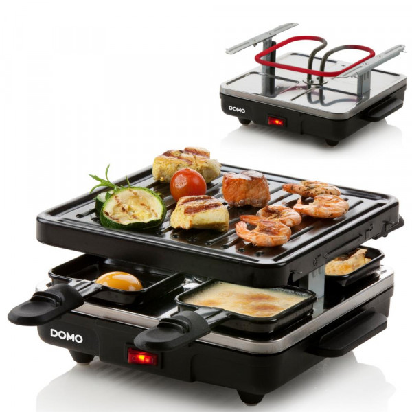 Raclette Grill DOMO DO9147G Backplatte Raclette-Set