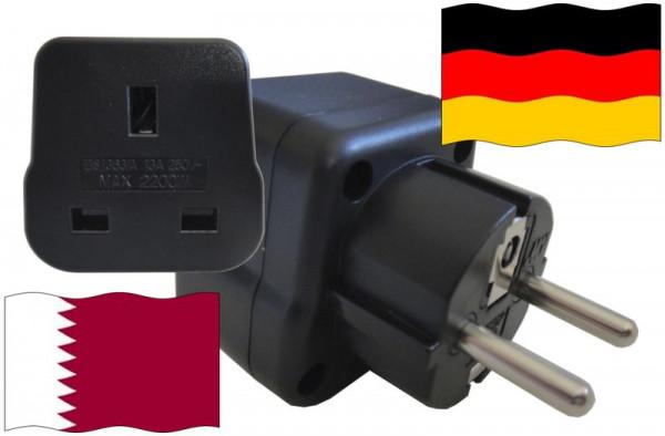 Urlaubsstecker Deutschland für Geräte aus Katar