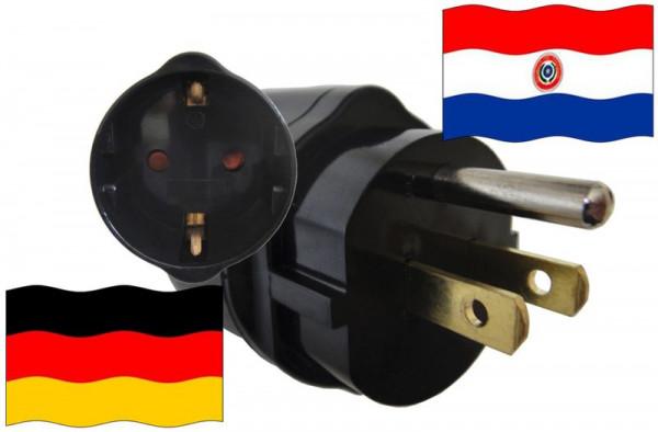 Urlaubsadapter Paraguay für Geräte aus Deutschland