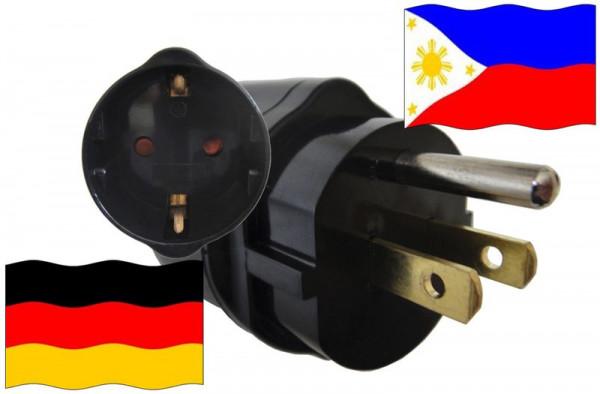 Urlaubsadapter Philippinen für Geräte aus Deutschland