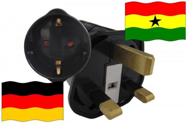 Urlaubsstecker Ghana für Geräte aus Deutschland