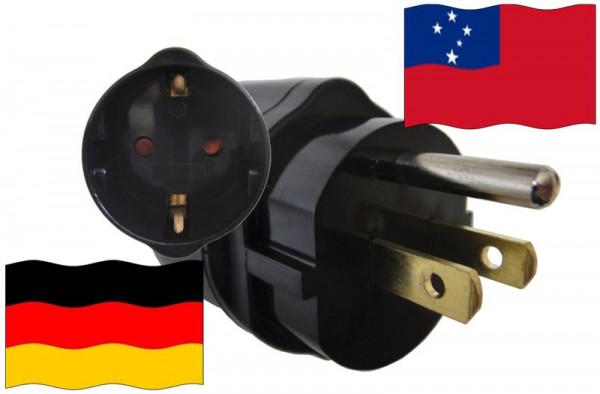 Urlaubsadapter Samoa (US) für Geräte aus Deutschland