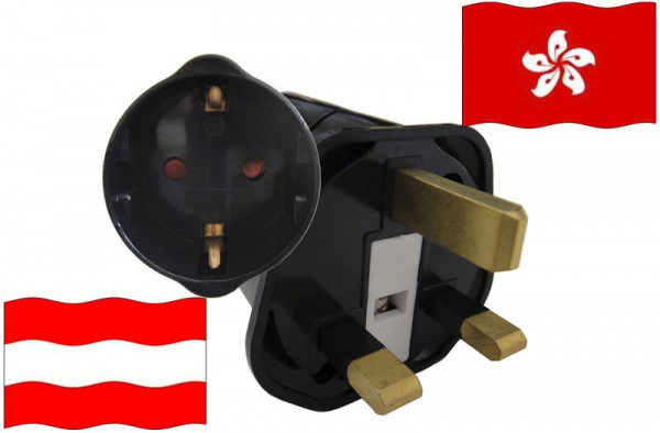 Urlaubsstecker Hong Kong für Geräte aus Österreich